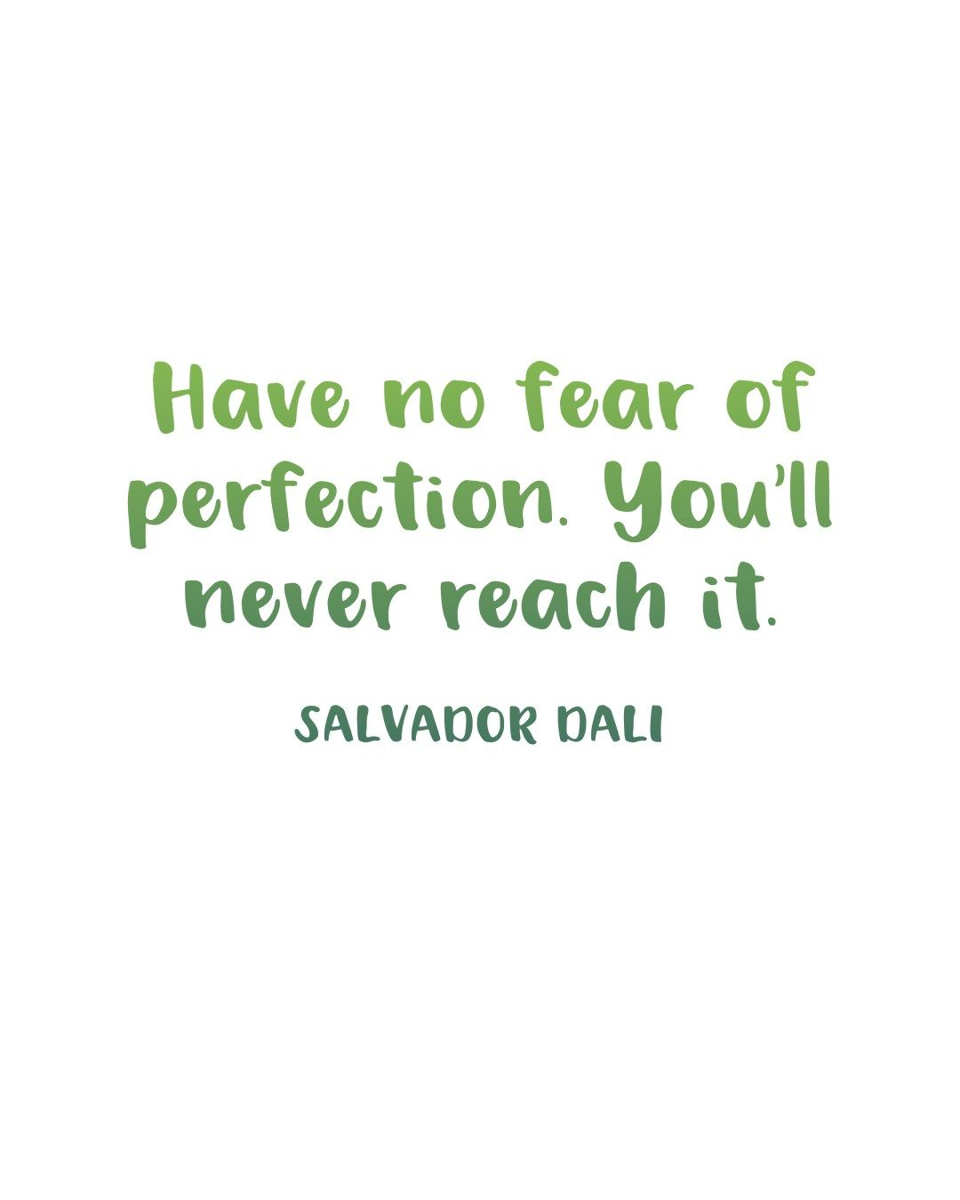 Printable Inspiration Perfection Quote By Salvador Dali