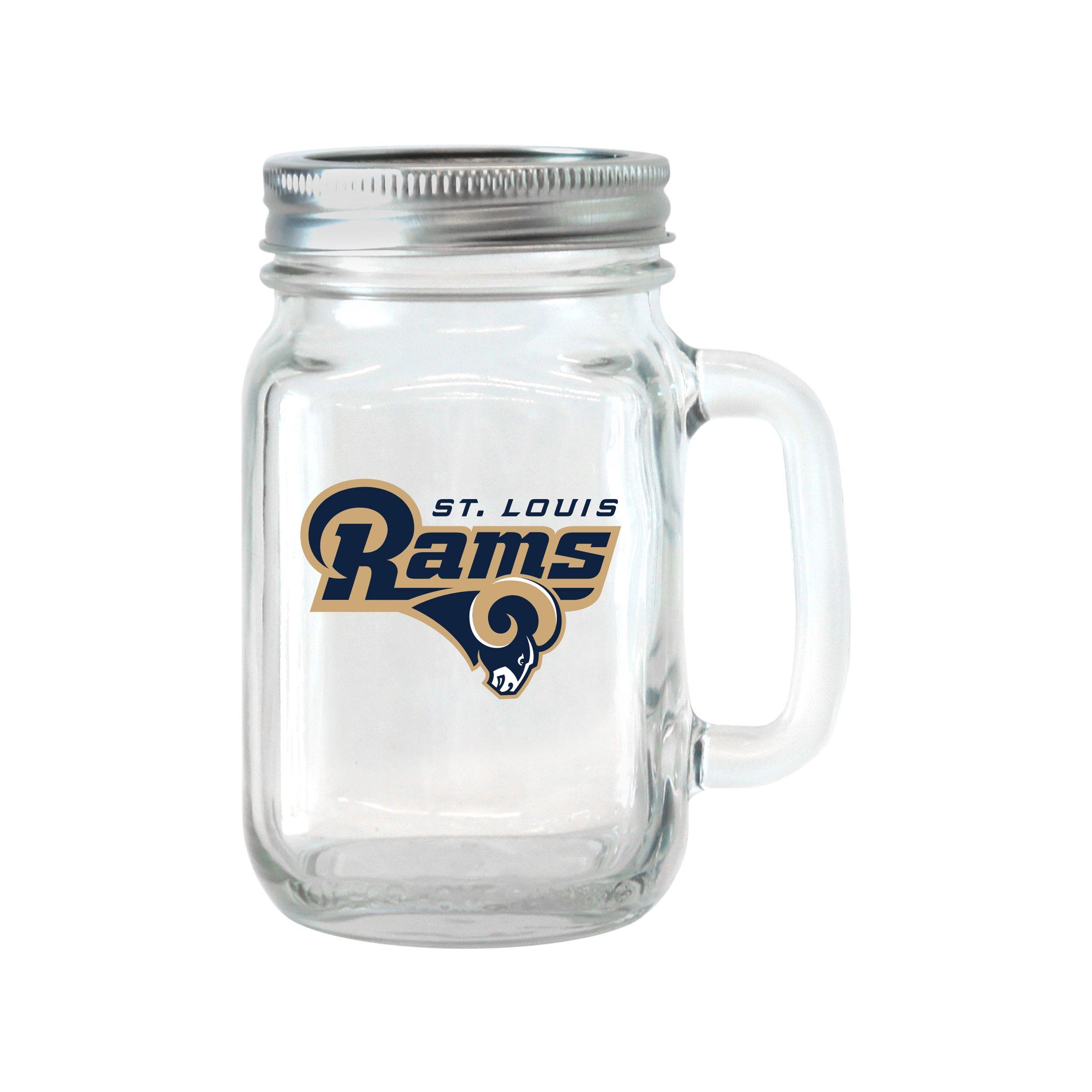 BOELTER BRANDS St. Louis Rams 16-ounce Glass Mason Jar Set