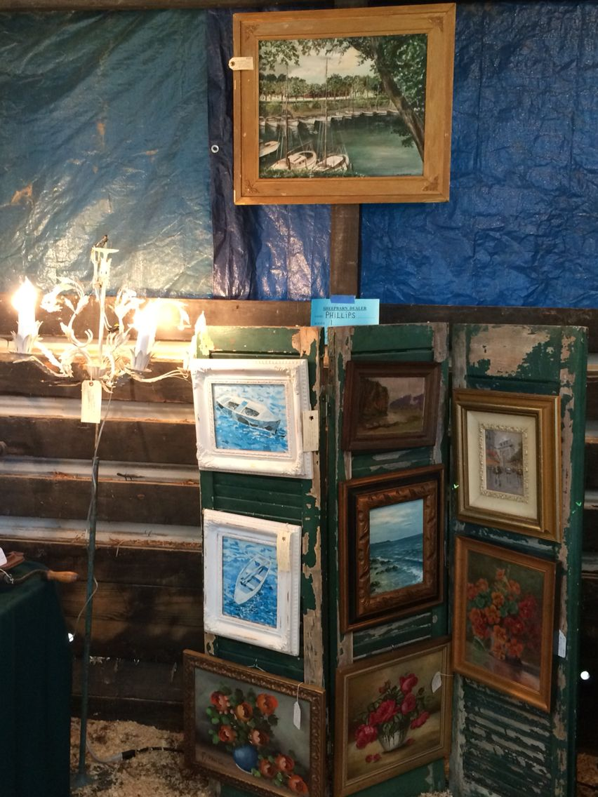 Antiques-Brocante's booth at the   Shenandoah Antiques Expo in Fishersville, VA.