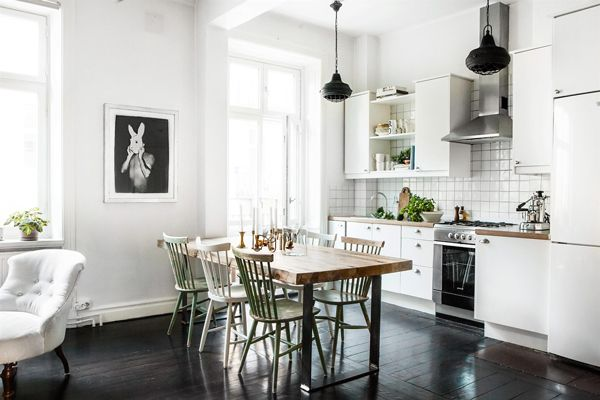 Scandinavisch Appartement Inspiratie : Scandinavisch interieur appartement inspiratie 01 decor cozinha