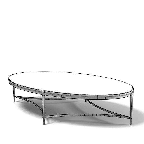 613153ef5d11 baker thomas pheasant 3d max - baker thomas pheasant modern contemporary oval  coffee table 7855 by archstyle