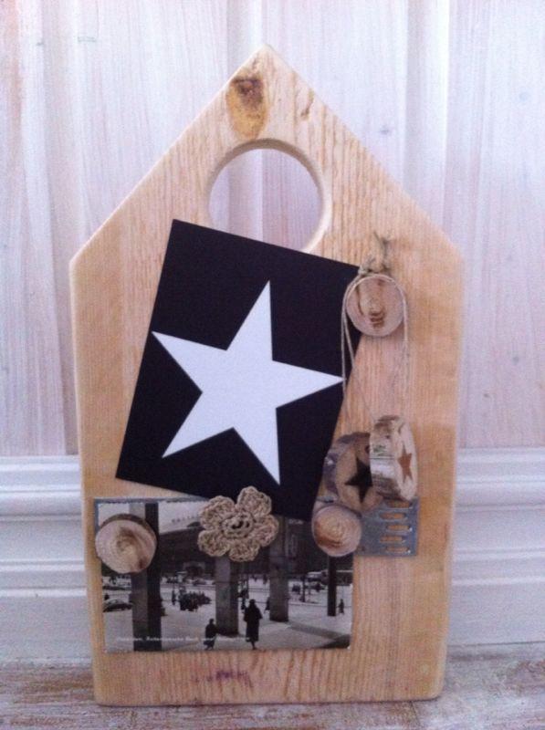 * woodgoods * memobord houten huisje | 7,50 euro