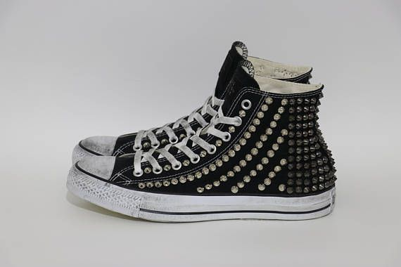 purchase cheap 3a277 348a7 Studded Converse Chuck Taylor All Star Hi Custom Shoes Two ...