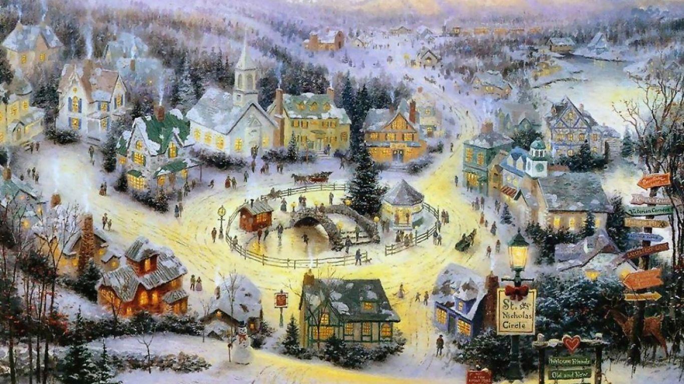 thomas kinkade christmas villages   Thomas Kinkade   Pinterest ...