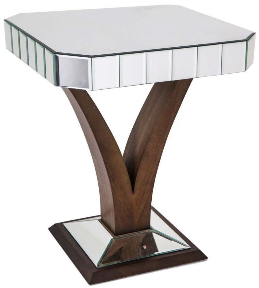 Rv astley elmire walnut base mirrored side table tables buy rv astley elmire walnut base mirrored side table online by r v astley from cfs uk at unbeatable price geotapseo Image collections