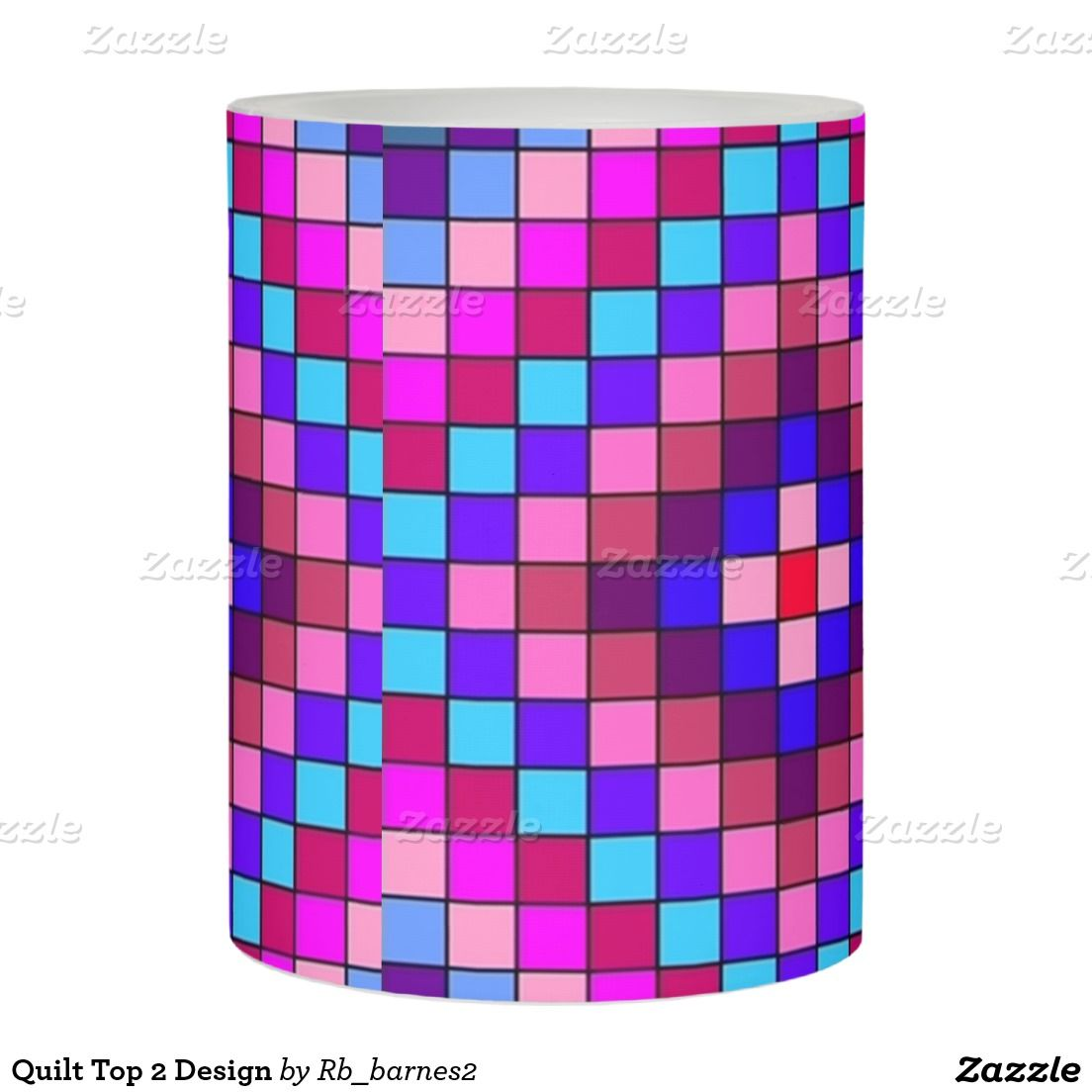 Quilt Top 2 Design Flameless Candle