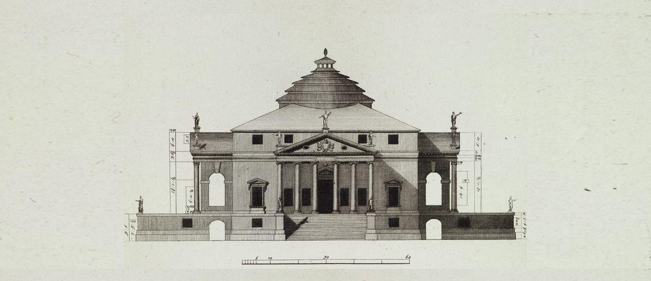 Drawing of the Villa Rotonda via RIBA | Andrea Palladio ...
