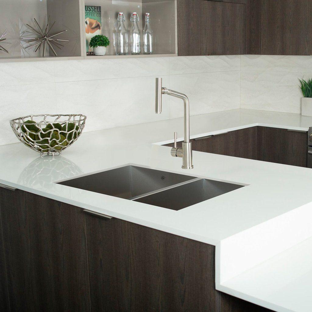 DAX Handmade 70/30 Square Double Bowl Undermount Kitchen