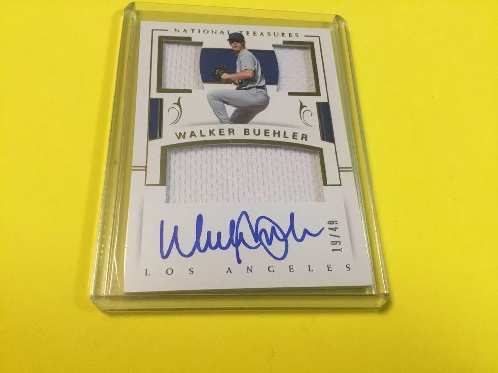2018 national treasures players collection walker buehler