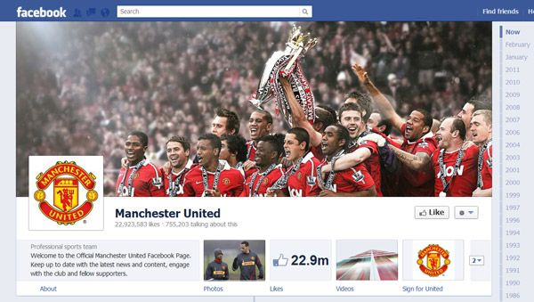 Facebook Timeline Brand Pages Sample  Social For Brands