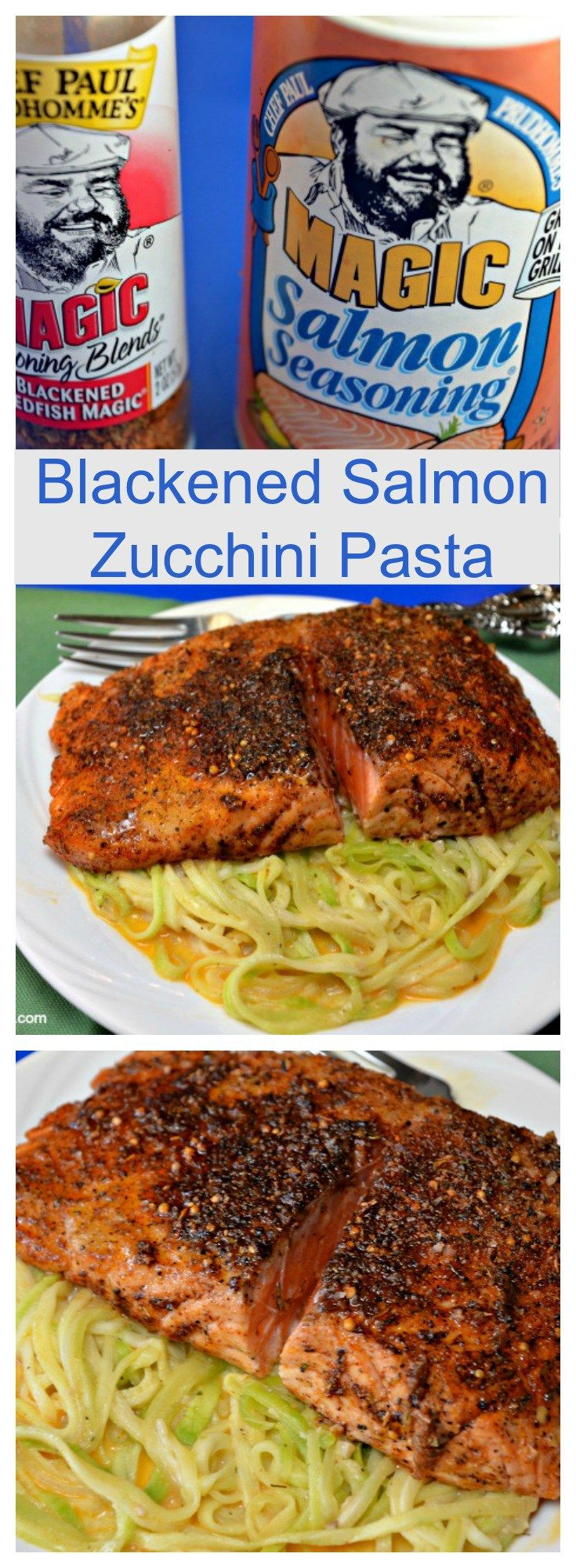 Check out blackened salmon zucchini pasta it 39 s so easy to for How to make blackened fish