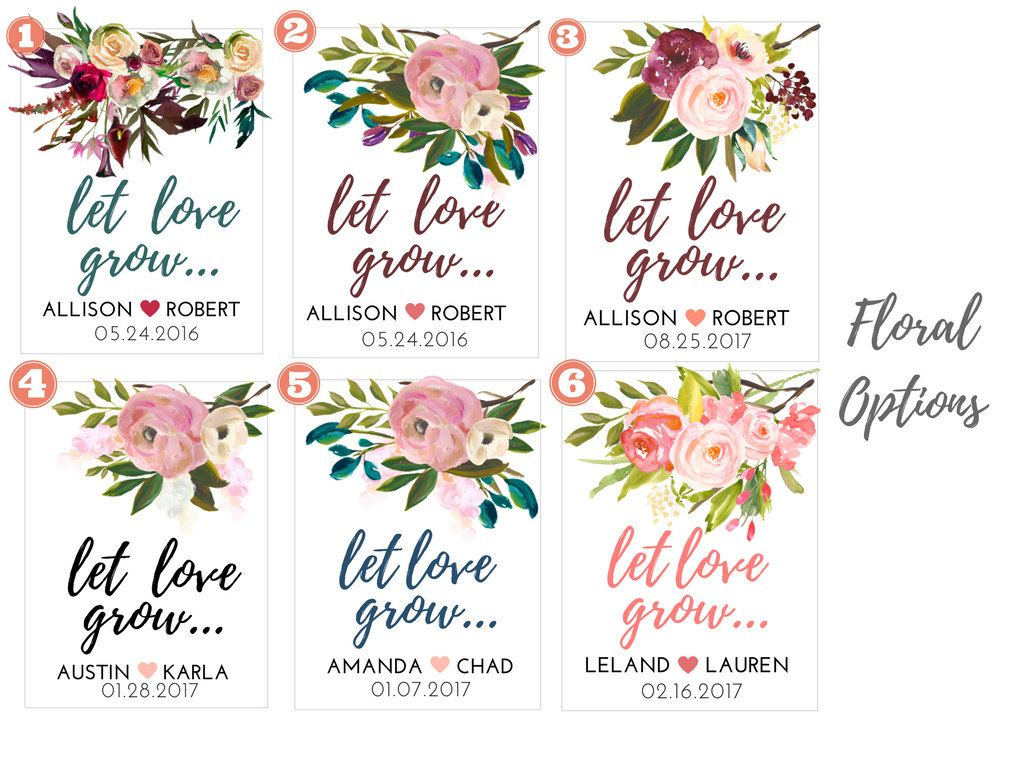 Let Love Grow- Custom Seed Wedding Favors (50 Count) SEALED with ...