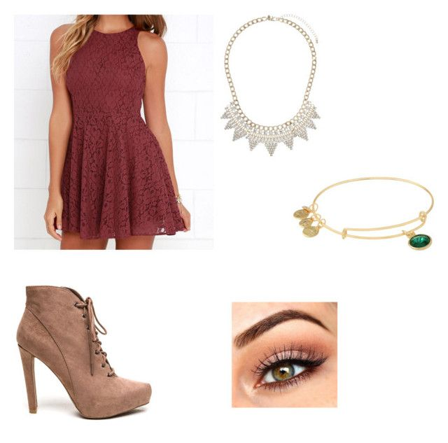 """""""Untitled #18"""" by morgangroves ❤ liked on Polyvore featuring Lucy Love, Alex and Ani and Miss Selfridge"""