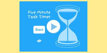 5 Minute Task Timer PowerPoint - visual aid, presentation, time ...