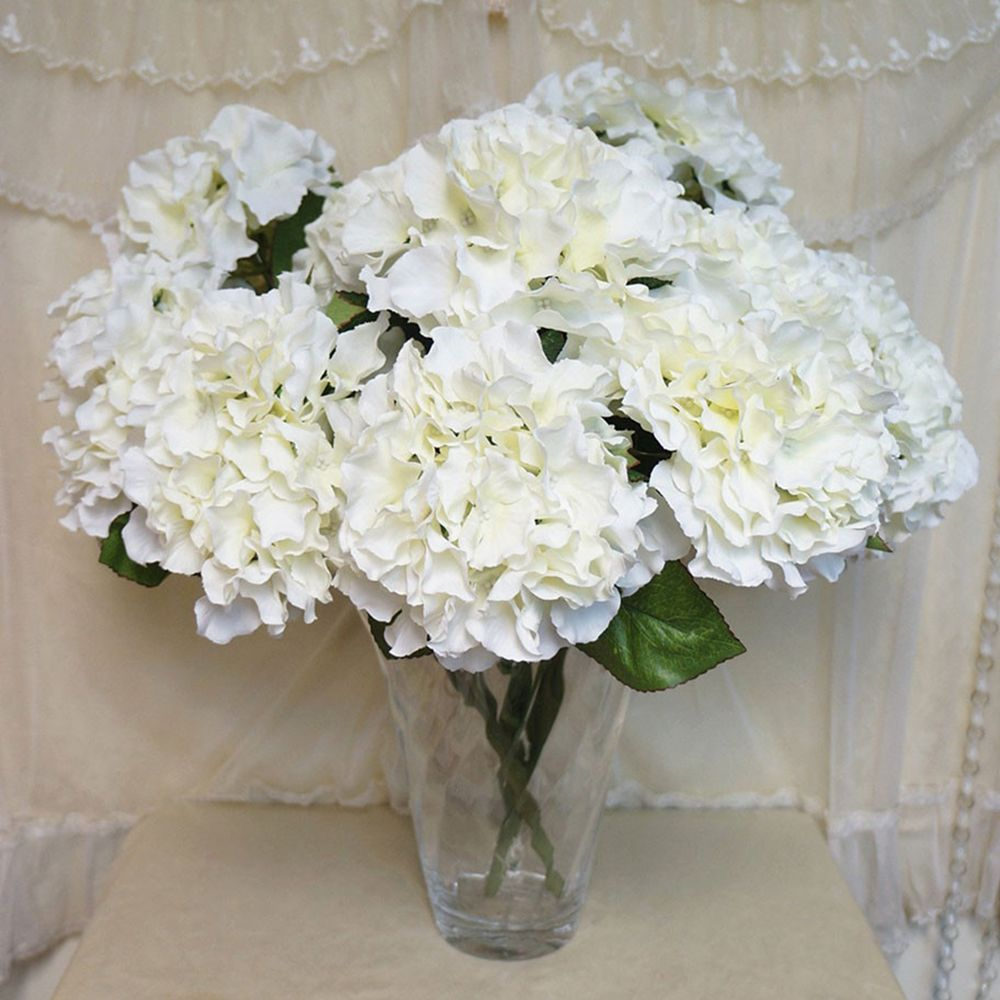 Decoration artificial fake silk flower 5 heads real touch hydrangea decoration artificial fake silk flower 5 heads real touch hydrangea leaf artificial flowers silk bouquets hydrangea izmirmasajfo