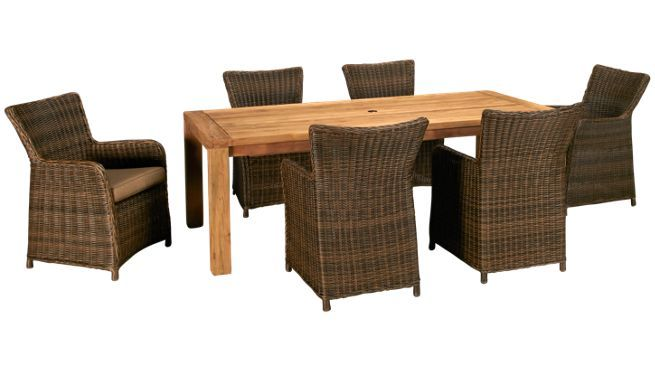 Scancom   Teak   7 Piece Outdoor Dining Set 2700