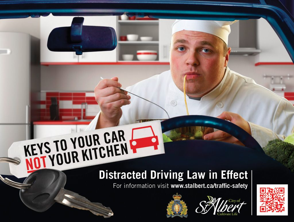It's a car not your kitchen! Driving laws, Distracted