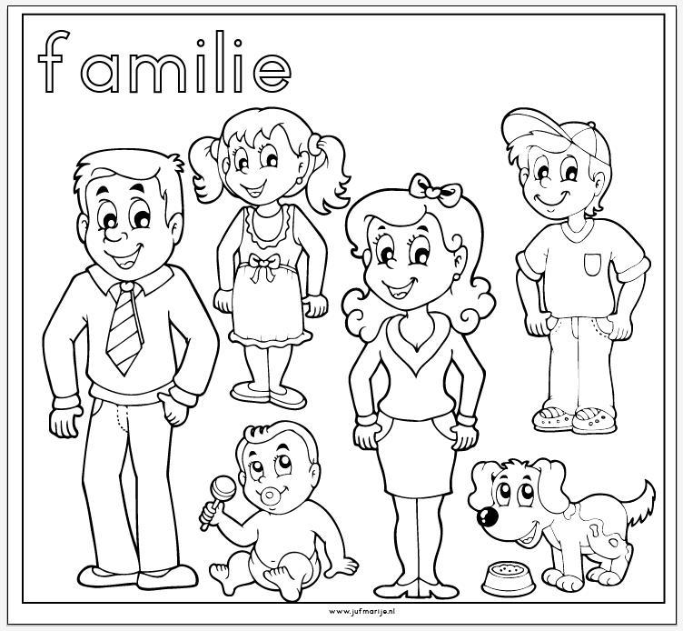 Kleurplaten Mijn Familie.Familie Kleurplaat Familie Thema Knutselen Familie En
