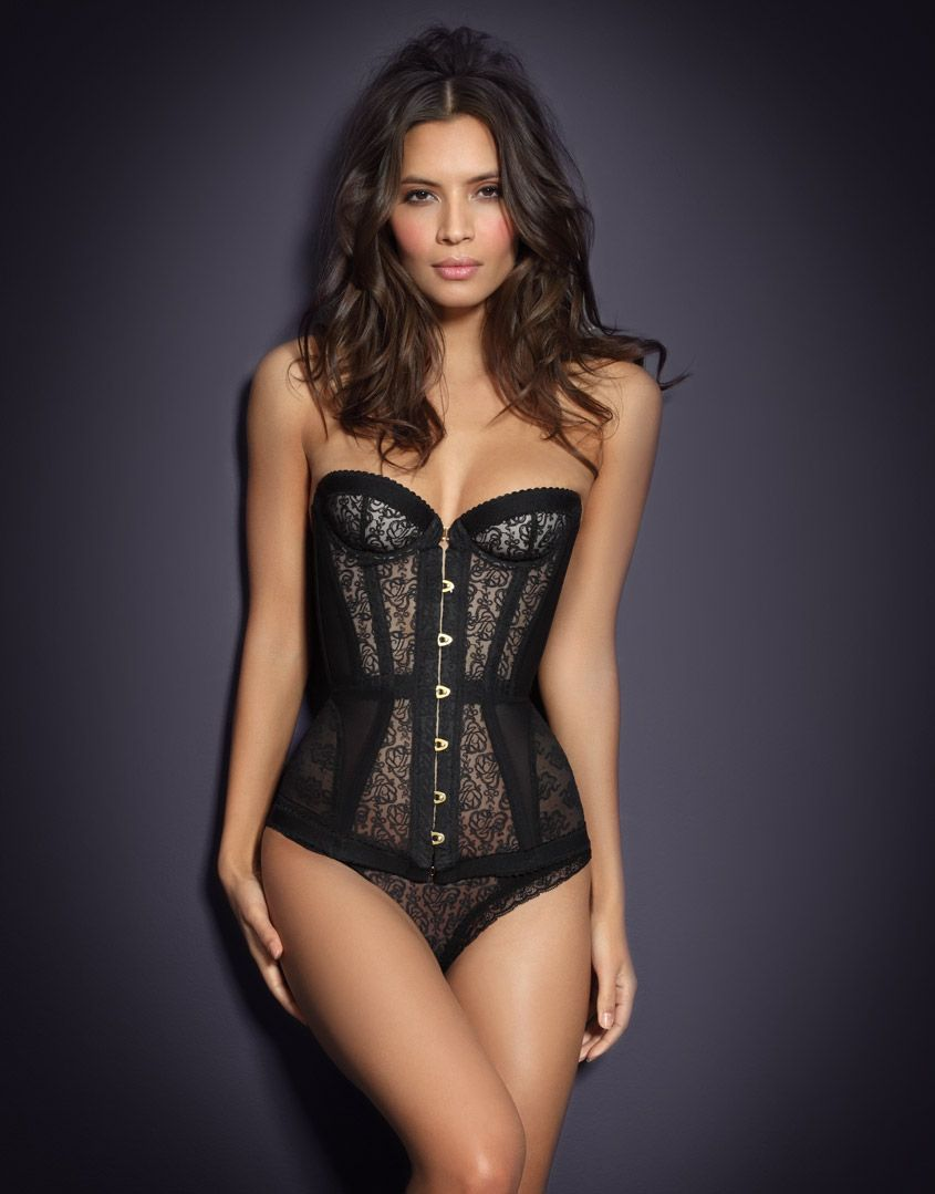 9a5d77e04f Agent provocateur mercy corset in black lyst jpg 845x1079 Mercy corset