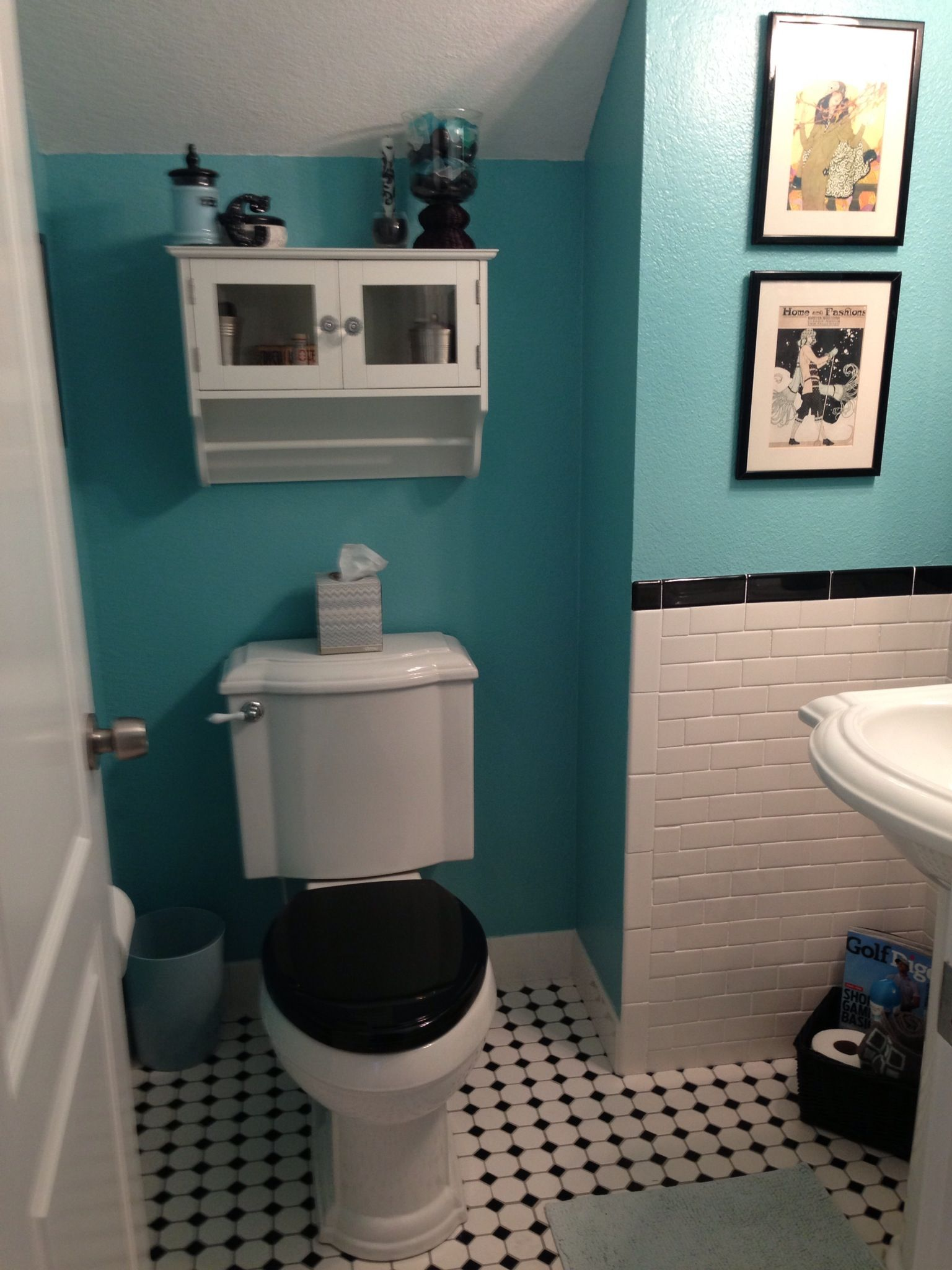 Tiffany blue/aqua bathroom with subway tile | Blue ...