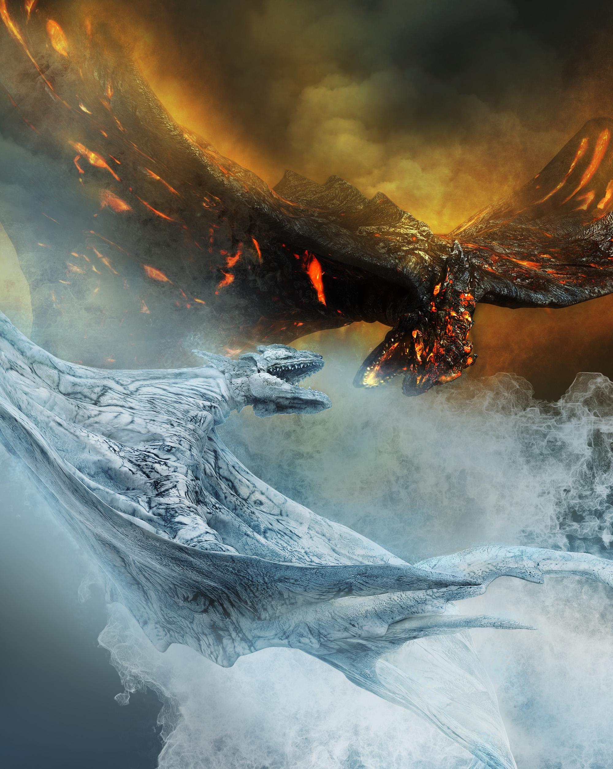 Fire Ice Dragons Ice Dragon Fire Dragon Snow Dragon
