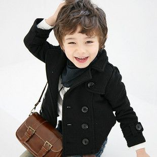 Fashion Children clothing spring black double breasted kids blazer