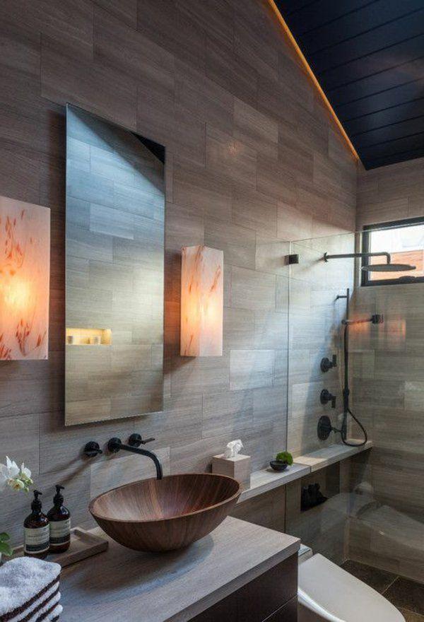 Une salle de bains grise - élégance et chic contemporain - Archzinefr - beleuchtung f r badezimmer