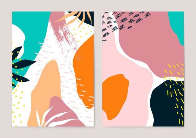 Download Colorful Memphis Style Cards Vector Set f