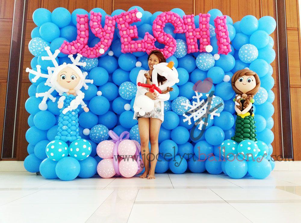 frozen balloon decoration Google Search Cuadros de Globos