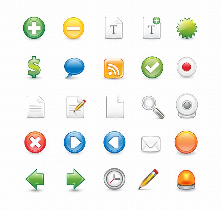 25 vector icones