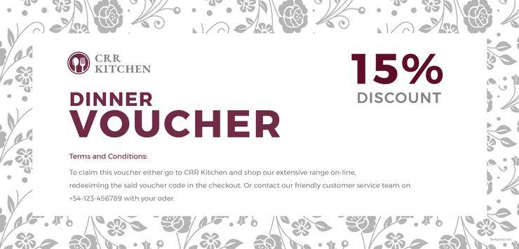 Free Dinner Voucher Templates Voucher Free Design