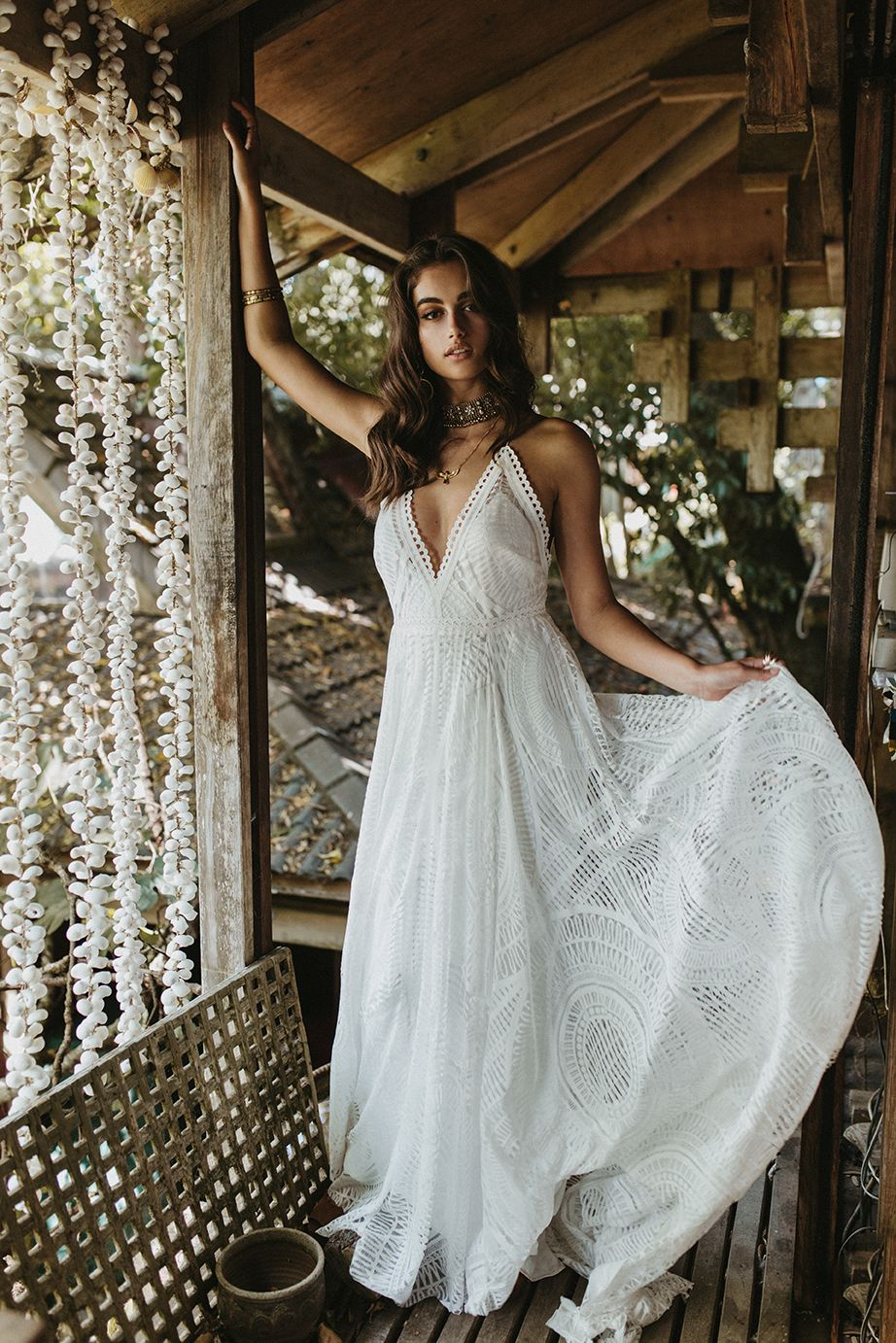 Bohemian wedding gown by Lovers Society style name Odyssey gown ...
