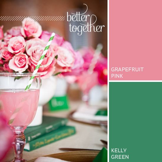 Better Together Grapefruit Pink Kelly Green