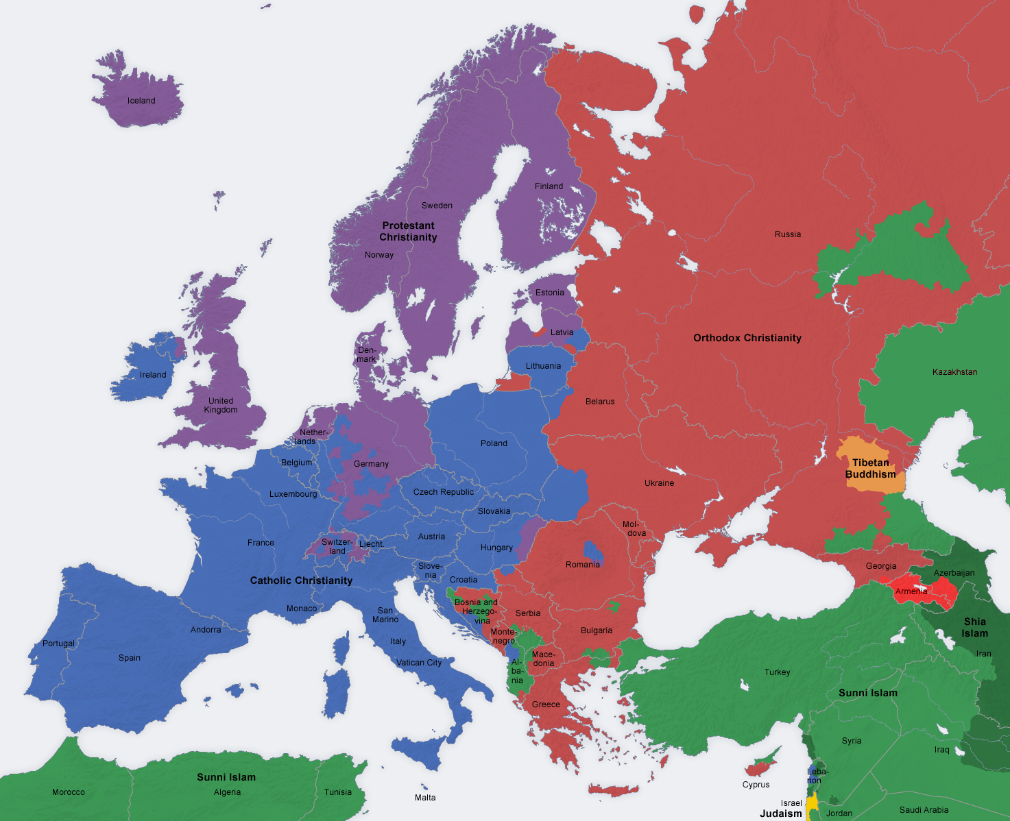 Dominant Religions In Europe X Maps Pinterest - World religion map wikipedia