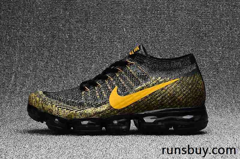 New Coming Nike Air Vapormax 2018 Flyknit Black Gold Nike Air Vapormax Black And Gold Shoes Nike