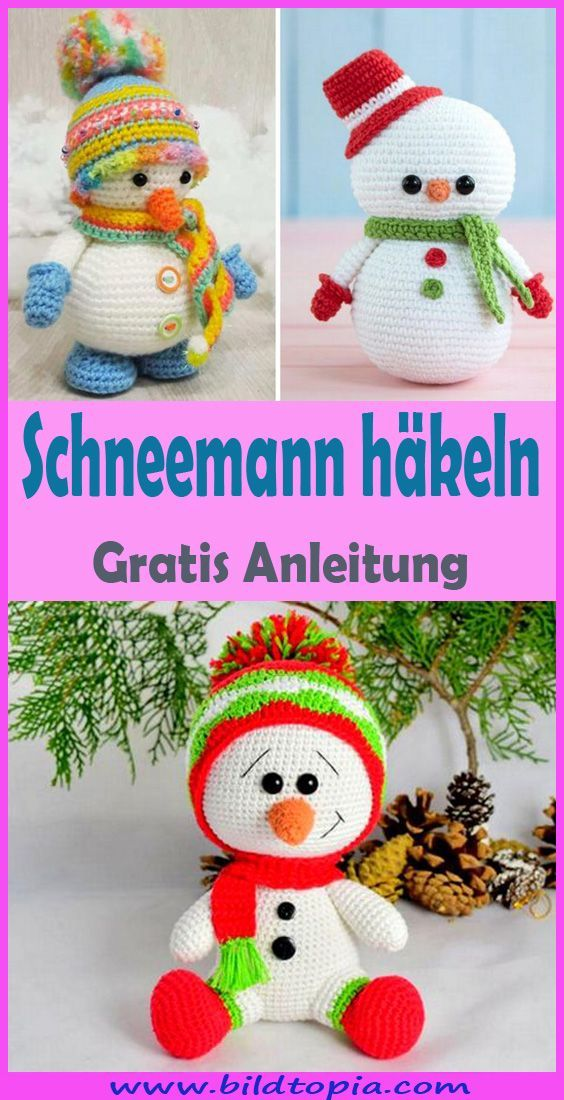 Photo of Häkeln Sie Schneemann – Free & Easy DIY Anle – Wintergarten Ideen