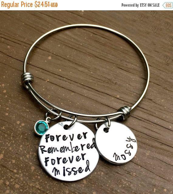 Loss Bracelet, Memorial Gift, RIP, in loving memory, Angel ...