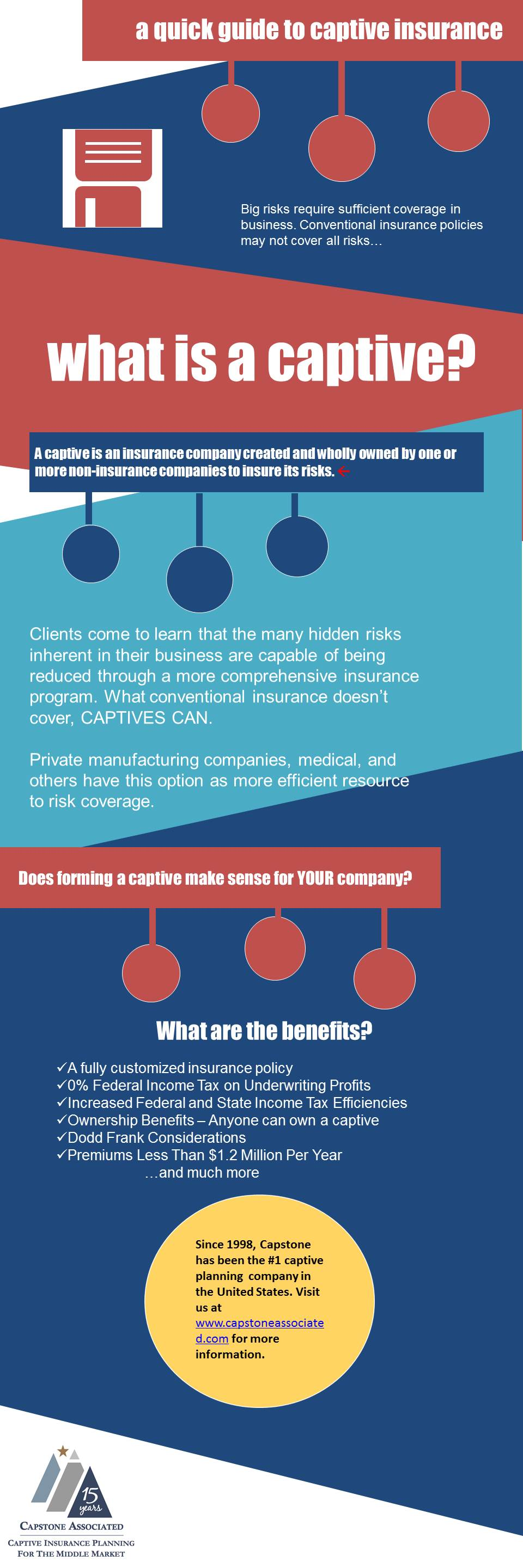 Infographic A Quick Guide To Captive Insurance Risk Management Tax Planning Management Infographic Insurance