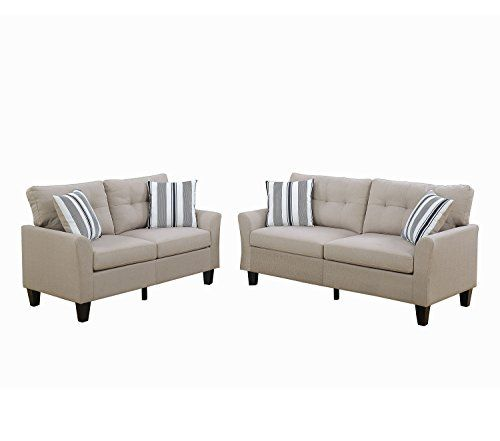 Sofas Tary Guidelines Sofa Covers Indian Poundex F6534 Bobkona Dreka And Loveseat Beige Furniture