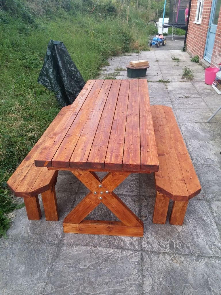 Picnic Table Benches Chairs Seats Pinterest Wooden Picnic - Large wooden picnic table