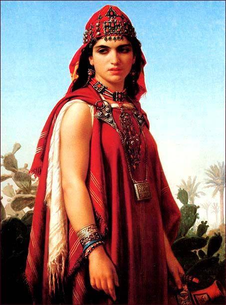 Algeria Emile Vernet Lecomte French 1821 1900 Berber Woman Women Berber Women Well Behaved Women