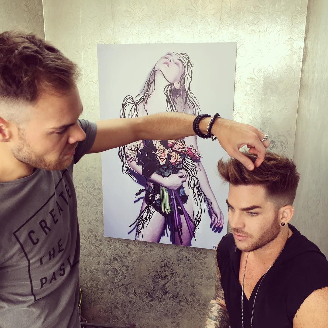 via ig tweaking adamlambert day made hair hairdresser