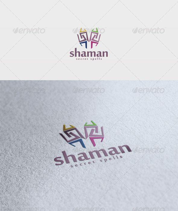 Shaman Logo #GraphicRiver File: - PSD - Vector - CMYK - Text can