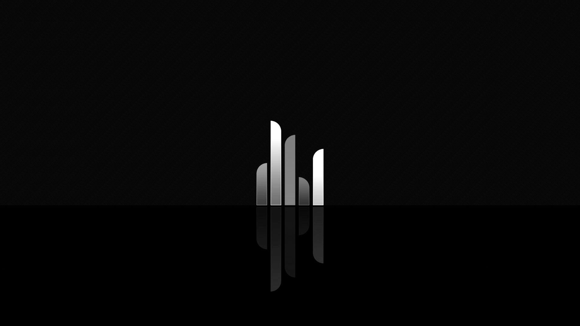 svart och vit bakgrunds HD