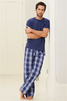 better new images of classic style Navy Check Long Set in 2019 | Boys pajama pants, Sewing men ...