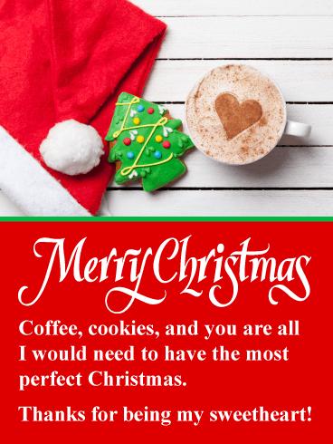 Christmas Goodies Romantic Merry Christmas Card Birthday Greeting Cards By Davia Merry Christmas Card Christmas Cards Merry Christmas