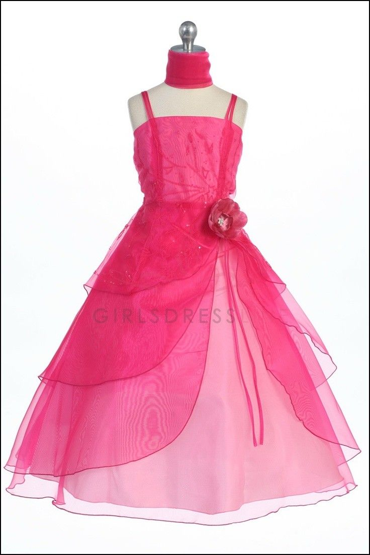 Cerise Pink Flower Girl Dresses Dresses And Gowns Ideas