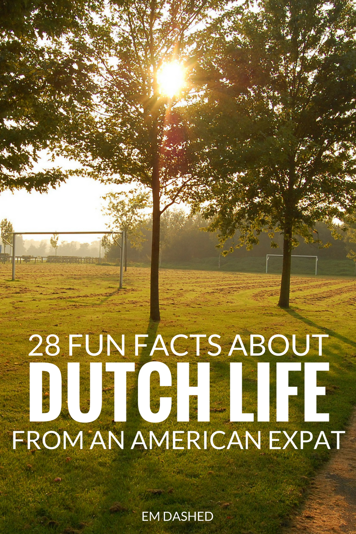 28 observations on the Dutch way of life, from an American living in the Netherlands.