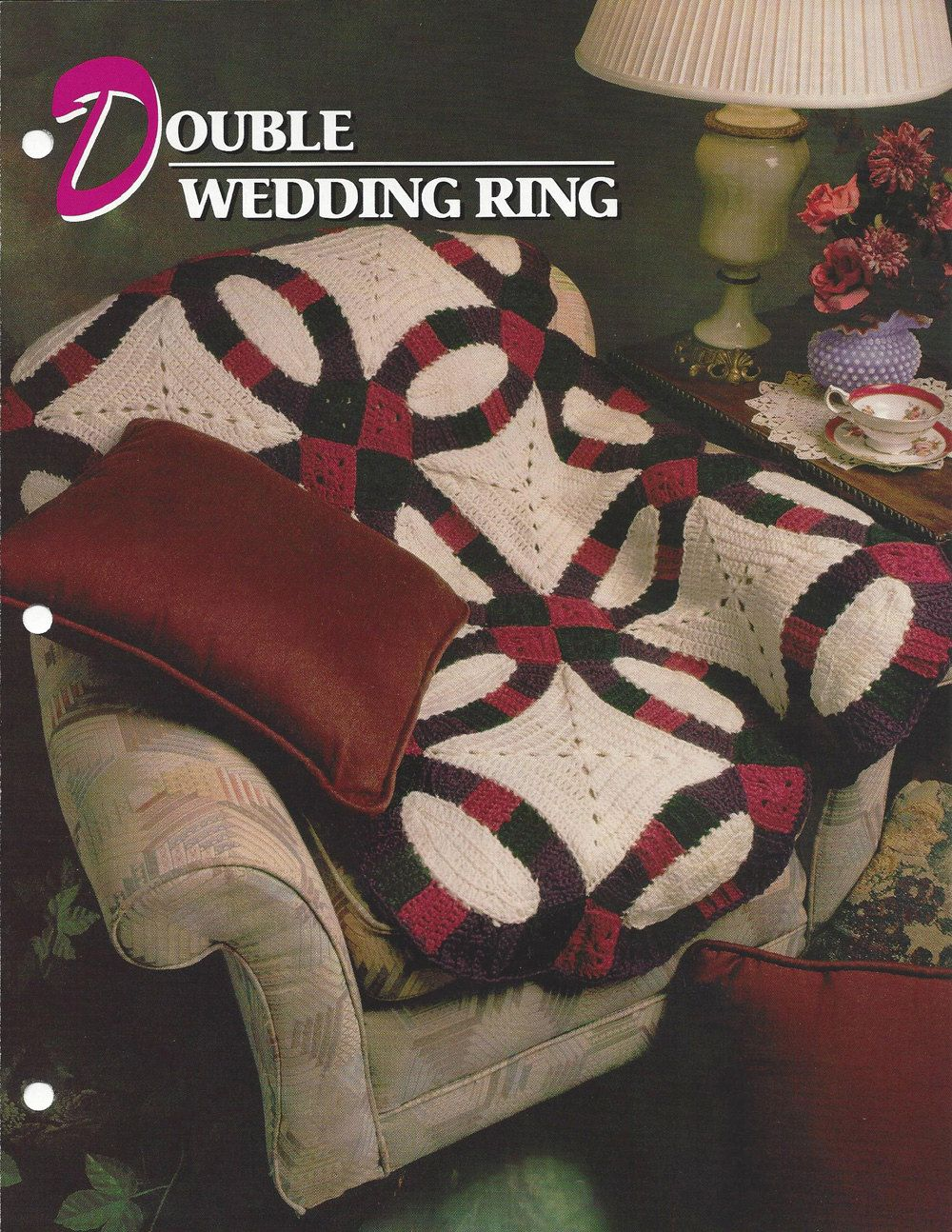 Double Wedding Ring Annies Crochet Quilt Afghan Crochet Quilt