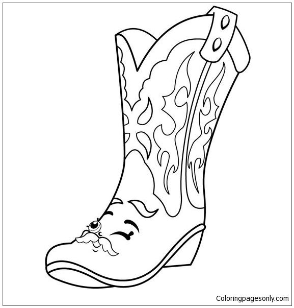 Cool Betty Boot Shopkins Coloring Page